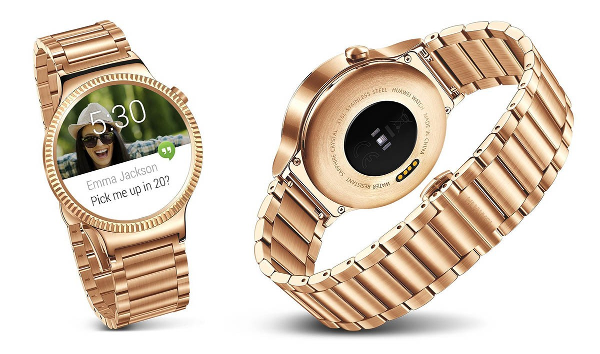800 Huawei Gold Smartwatch Spotted On Amazon Smart Watch Stainless Steel With Leather Bracelet